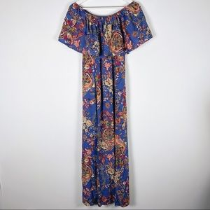 The Pyramid Collection Floral Off Shoulder Maxi